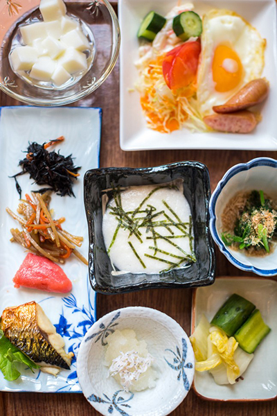Japanese breakfast, photo by Robin O'Neill
